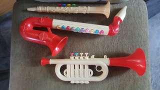 Toy wind instruments