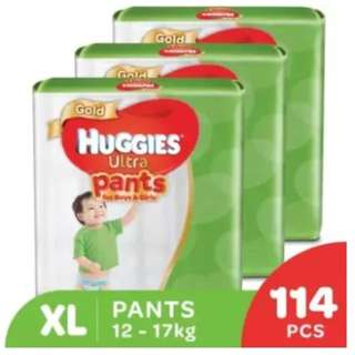 Huggies Ultra Pants Boy & Girl XL38 Super Jumbo (3 pack)