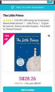 The Little Prince @ $1 ONLY! (CHEAPEST ON CAROUSELL!)