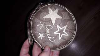 AUTHENTIC Coach Signature Heritage Star Coin Pouch