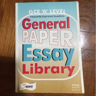 A Level General Paper Essay Library by Redspot