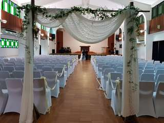 Wedding venue deco with flowers