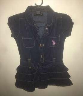 US Polo Assn. Denim baby dress