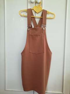 Overall nude dress