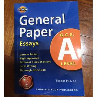 A Level General Paper Essays by Thomas Philo