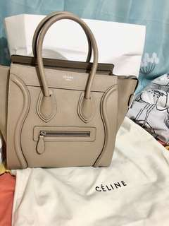 Celine micro luggage with dust bag! 100%real and new