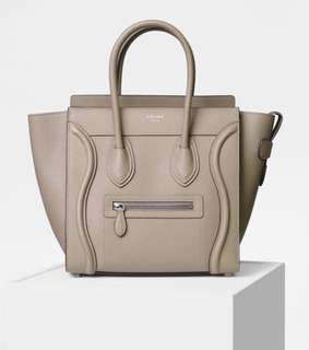 celine micro luggage with dust bag! 全新100%real and new !!!