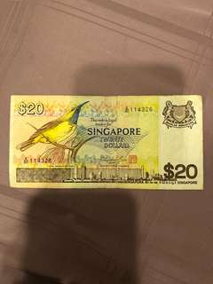 $20 Bird Series Note