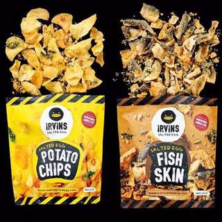 Best Seller Irvins Salted Egg Imported Snacks Fish Skin N Potato Chips 105 Gram Hand Carry Singapore