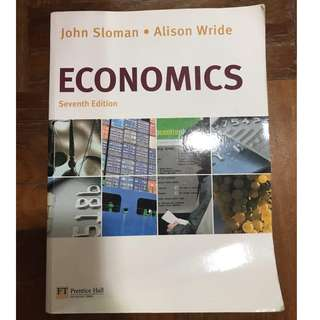 Economics by John Sloman and Alison Wride 7th Edition