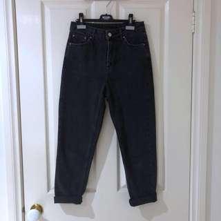 (26) Topshop Mom Black High Waist Jeans
