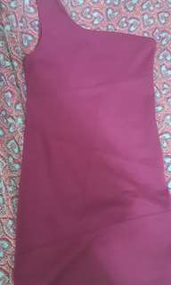 F21 Purple Bodycon One Shoulder Dress