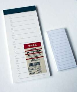 MUJI styled checklists ( 3 types )