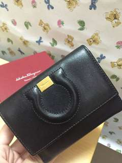 Salvatore Ferragamo Wallet 黑色真皮銀包