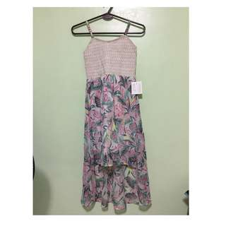 Chiffon Long back floral dress for 9-10 years old
