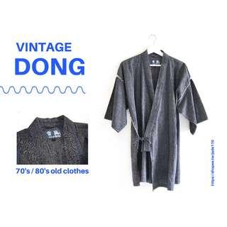 🚚 | 咚 咚 Vintage |日本古著-| 邊緣山丘|短袖甚平、浴衣、和服