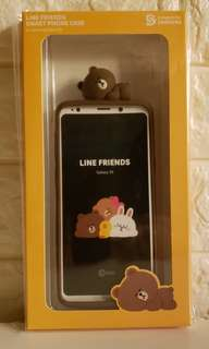 Samsung Galaxy S9 LINE FRIENDS 熊大立體矽膠手機殼