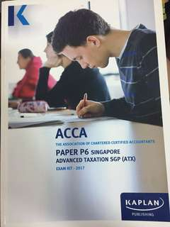 ACCA P6 Kaplan Singapore Exam kit 2017