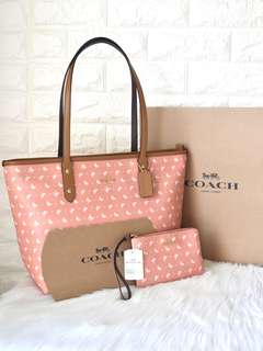 Coach Butterfly Zip Tote