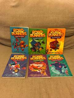 Robo-runners by Damian Harvey 6 books