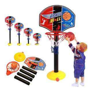 🚚[FREE DELIVERY] Kids Adjustable Basketball Stand Game Set with Ball Inflator Ball Manual Pump