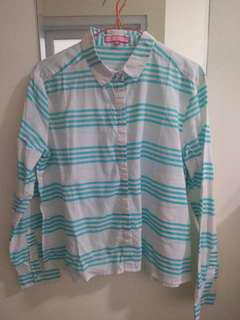Turquoise stripes shirt