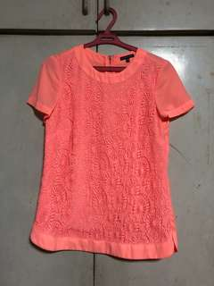 Warehouse Lace Front Top