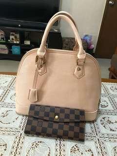 Louis Vuitton Epi Alma and LV Damier Sarah wallet