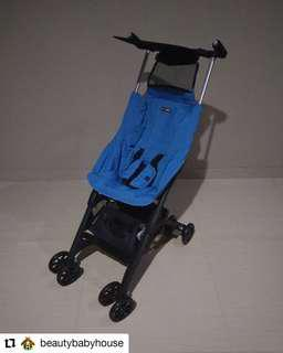 Preloved Stroller Pockit 4 Blue