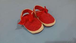 Red Color Babies Shoe