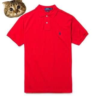 🚚 真品 Polo Ralph Lauren Polo衫 紅底白馬 刺繡小馬