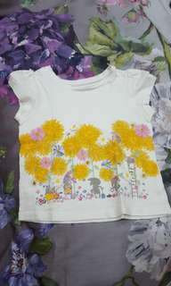 Mothercare Sunflower bunnies shirt