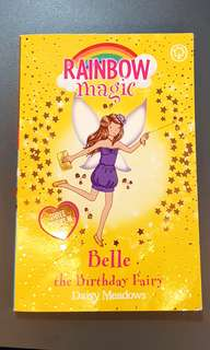 Pre-loved Rainbow Magic book Belle the Birthday Fairy 3 stories in 1