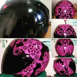 Customize Mandala Helmet!