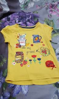 Mothercare bunny in a cup shirt