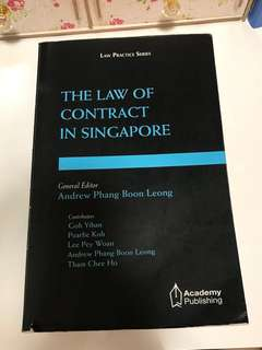 Law of Contract in Singapore Textbook SMU/NUS Year 1/JD