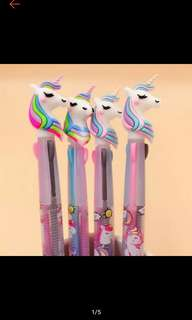 Rectractable 3in1 Unicorn Pens