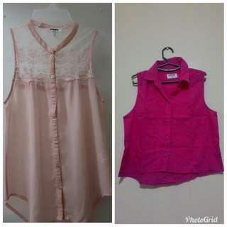 Pink sleeveless polo