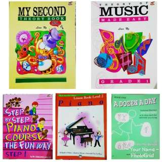 Piano Grade 1-2 Books (Songs and Theory)