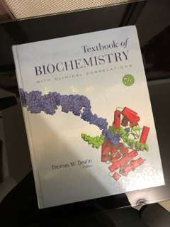 Textbook of Biochemistry by Devlin