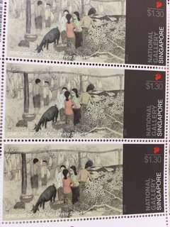 National Gallery Stamps $1.30 sheet of 10 pieces