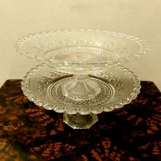 "(REDUCED)12"" Glass Cake Stand (each)"