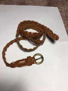 *Brown Braided Leather Belt