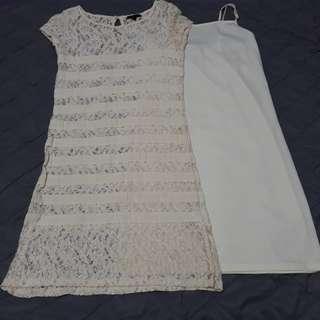 Paperdolls Cream lace dress