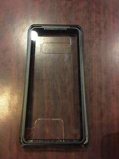 Samaung Note8 玻璃底防撞邊框手機殻