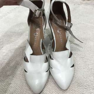 Jeffrey Campbell White wedge