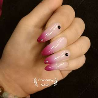 Mood change nail polish gel nail