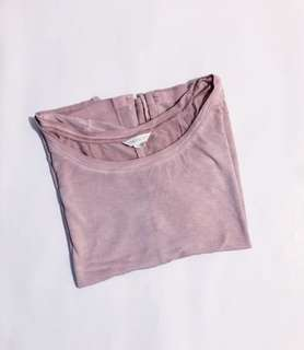 💜 Aéropostale Blushed Pink Plain Loose Shirt