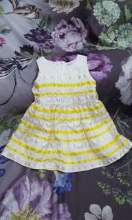 Moejoe yellow stripe dress
