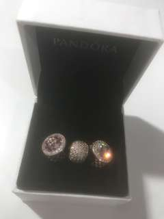 Pandora ROSE Charms (selling as trio)